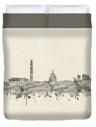Washington Dc Skyline Music Notes 2 Duvet Cover