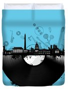 Washington Dc Skyline Vinyl 2 Duvet Cover