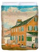 Washington D.c. Square 1874 Duvet Cover