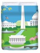 Washington, D.c. Vertical Skyline Duvet Cover