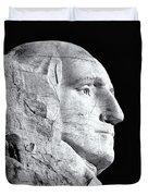 Washington Granite In Black And White Duvet Cover