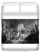Washington Meeting His Generals Duvet Cover