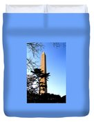 Washington Monument At Dusk Duvet Cover