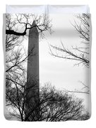 Washington Monument Bw Duvet Cover
