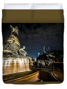 Washington Monument Fountain Duvet Cover