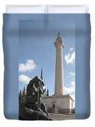 Washington Monument In Baltimore Duvet Cover