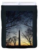 Washington Monument Duvet Cover