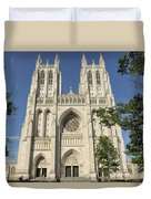 Washington National Cathedral Front Exterior Duvet Cover