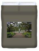 Washington Park, Charleston, Sc Duvet Cover