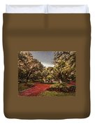 Washington Square In Mobile Alabama Painted Duvet Cover
