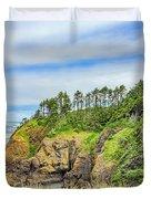 Washington State Coastline Duvet Cover