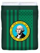 Washington State Flag Graphic Usa Styling Duvet Cover
