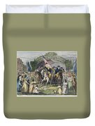 Washington: Trenton, 1789 Duvet Cover
