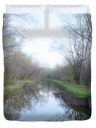 Washingtons Crossing - Along The Delaware Canal Duvet Cover