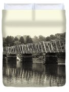 Washington's Crossing Bridge On A Rainy Day Duvet Cover