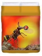 Wasp Blowing Bubble 160605d Duvet Cover