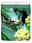 Wasp On The Ivy Duvet Cover
