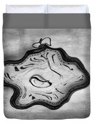 Wasted Time Bw Duvet Cover
