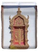 Wat Buppharam Phra Wihan Window Dthcm1581 Duvet Cover