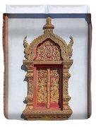 Wat Buppharam Phra Wihan Window Dthcm1582 Duvet Cover