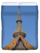 Wat Chaimongkron Phra Wihan Gable And Spire Dthcb0090 Duvet Cover