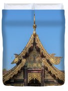 Wat Jed Yod Gable Of The Vihara Of The 700 Years Image Dthcm0963 Duvet Cover