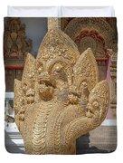 Wat Kumpa Pradit Phra Wihan Five-headed Naga Dthcm1664 Duvet Cover