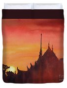 Wat Silhouette Duvet Cover