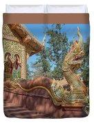 Wat Suan Prig Phra Wihan Makara And Naga Guardian Dthcm2395 Duvet Cover