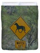 Watch For Horses Duvet Cover
