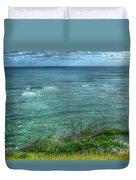 Watching From Afar Kuilei Cliffs Beach Park Surfing Hawaii Collection Art Duvet Cover