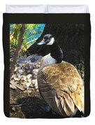 Watchful And Proud Duvet Cover