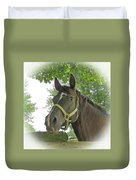 Watchful Mare Duvet Cover