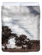Watching Clouds Float Across The Sky Duvet Cover