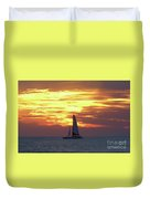 Watching Fire In The Sky Duvet Cover