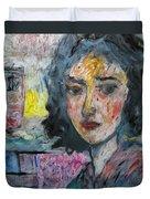 Watching Illuminated Duvet Cover