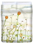 Watching The Clouds Go By No 2 Duvet Cover by Jennifer Lommers