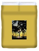 Watching The Hawaiian Sunset  Duvet Cover