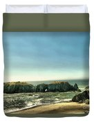 Watching The Rocks And Waves Duvet Cover
