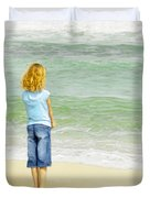 Watching The Waves Duvet Cover