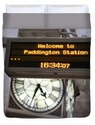Watching Time At The Station Duvet Cover