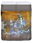 Watchtower Rock Art  Duvet Cover
