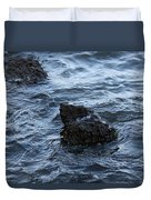 Water And A Rock Duvet Cover