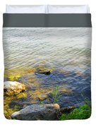 Water And Earth Duvet Cover
