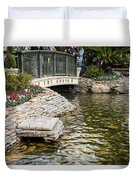 Water And Flower Duvet Cover