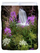 Water And Flowers Duvet Cover
