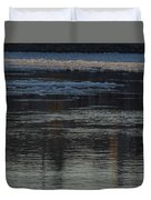 Water And The Ice - Icy River Danube Duvet Cover