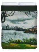 Water And Scenery Duvet Cover
