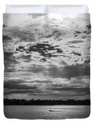 Water And Sky - Bw Duvet Cover