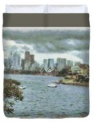Water And Skyline Duvet Cover